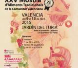 Cartel de la Mostra de Vins, Caves i aliments tradicionals con imagen de mujer