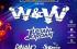 Cartel del festival de música electrofallas en colores azules