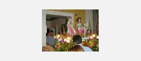 Foto: fiestas de Santa Justa y Rufina en Agost