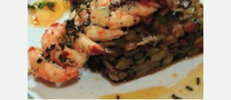 Img 1: Wok de verduras con ñoras y langostinos