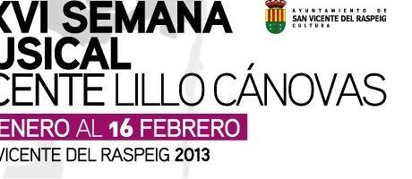 Img 1: XXVI Semana Musical Vicente Lillo Cánovas 2013