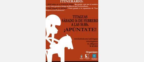 """Img 1:  RUTA Y EXPOSICIÓN """"LAS MUJERES EN LA PREHISTORIA"""" TITAGUAS  2013"""