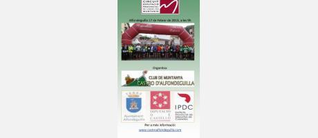 Cartel oficial VII carrera de montaña Castro de Alfondeguilla