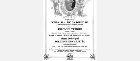 Img 1: Triudo a Nuestra Señora de la Soledad