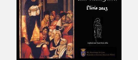Cartell de Festes de Sant Vicent Ferrer 2013 Llíria