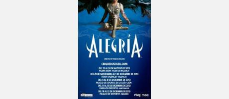 Cartel anunciador del espectáculo Alegría