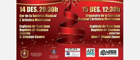 Conciertos de Navidad de la S.M. L'Artistica Manisense en Manises