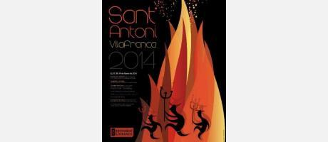 """Fiesta de """"La Publicata"""" en honor a San Antonio Abad de Vilafranca."""