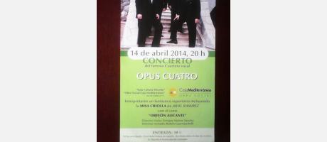 Concierto Opus Cuatro