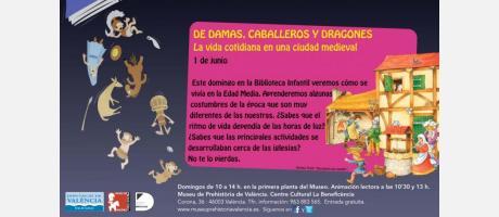 Cartel de la animación lectora del Museu de Prehistòria de valència