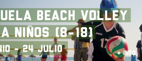 Cartel de la Escuela de voley playa