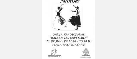 cartel anunciador del evento en el que están representados una pareja bailando