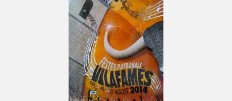Cartel Fiestas Patronales Vilafamés 2014