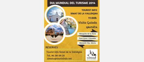 """Simat de la Valldigna - Día Mundial del Turismo DMT-2014 – """"Sé turista en tu ciu"""