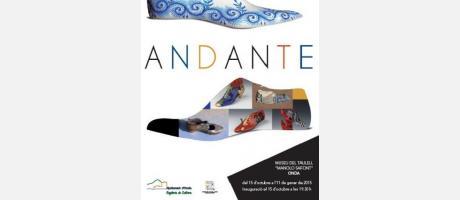 Cartel Exposición Andante en el Museu del Taulell