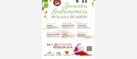 VII Jornadas Gastronómicas de la uva y del azafrán en Novelda