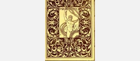 Página impresa con grabado antiguo de Prometeo.