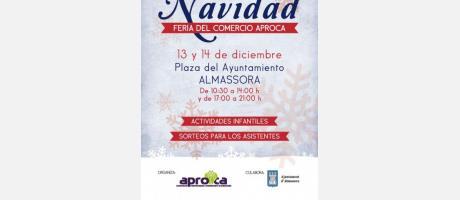 Cartel Mercado Navidad Almazora 2014
