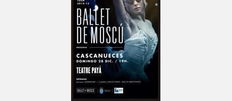 Cartel anunciador del Cascanueces interpretado por el Ballet de Moscú
