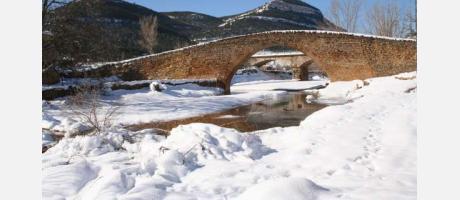 Un puente nevado