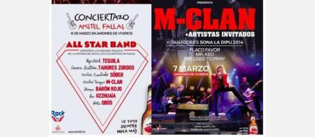 El cartel del concierto