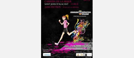 Cartel Carrera Popular y de la Mujer Sant Joan d'Alacant