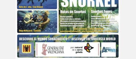 Rutas guiadas de Snorkel en Altea 2015