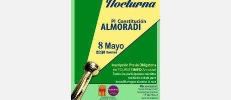 cartel anunciador de la Ruta Verde Nocturna en Almoradí