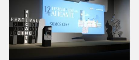 Simulación escenario 12 Festival de Cine de Alicante