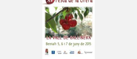XV Fiesta de la cereza. Benialí 2015