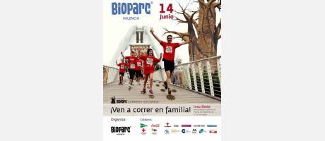 Cartel Carrera en Manada 5K Bioparc-Valencia