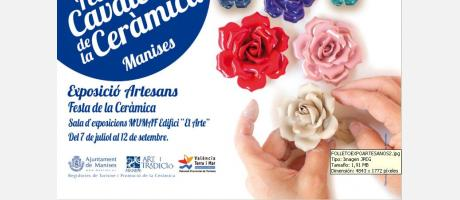 Flores de porcelana para el cartel anunciador Festa de la Ceràmica 2015