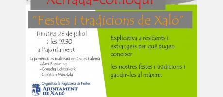 Charla informativa sobre fiestas y tradiciones en Xaló