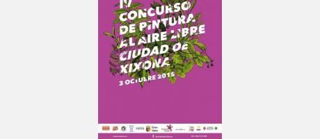 Cartel del IV Concurso de pintura al aire libre ciudad de Jijona