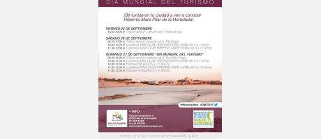 """Día Mundial del Turismo """"Turismo somos todos, todo es turismo"""" en Pilar de la Ho"""