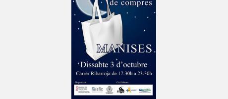 Cartel anunciador de la nit de compres en Manises
