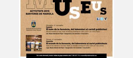 Exposción El mundo de la farmacia, del laboratorio al cartel publicitario