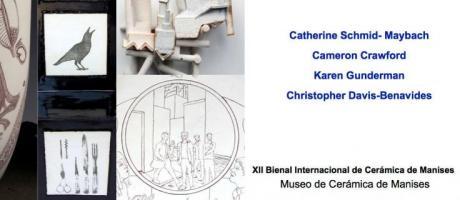 cartel anunciador con diferentes piezas de la exposición
