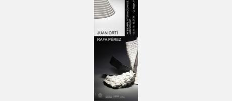 cartel anunciados con piezas de estilo vanguardista en blanco y negro