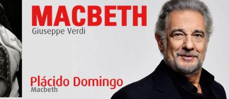 Imagen del cartel de la obra Macbeth interpretada por Plácido Domingo