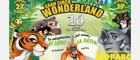 Cartel promocional Gran Circo Wonderland