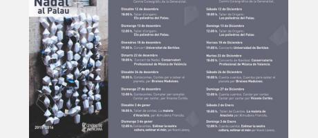 Programa de Navidad en el palau de la generalitat
