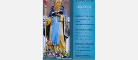 Imagen de San Antonio Abad con un cerdito a sus pies.