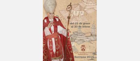 Cartel de las fiestas de San Blas 2016