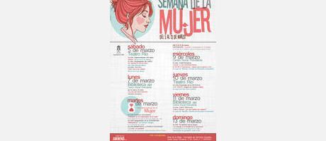 Cartel anunciador Actividades de la Mujer 2016