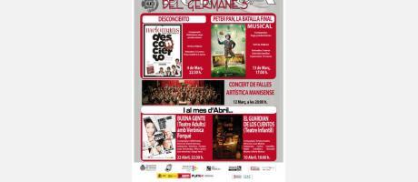 Cartel anunciador con las imágenes de los distintos eventos