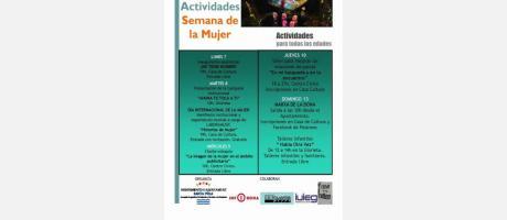 Actividades Semana de la Mujer en Santa Pola