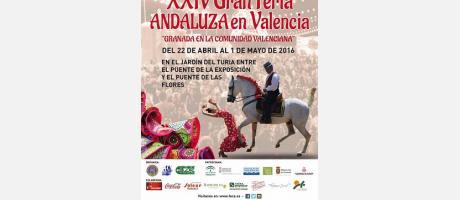 Cartel de la Feria Andaluza con un caballo
