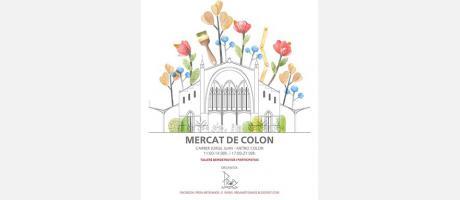 Cartel de la Mostra Artesanía con el Mercado de Colón