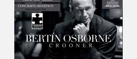 "Cartel Concierto Benéfico ""Bertín Osborne""."